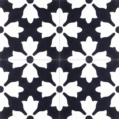 Tegel zwart wit