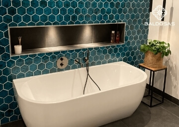 Geglazuurde tegels wandtegels badkamer