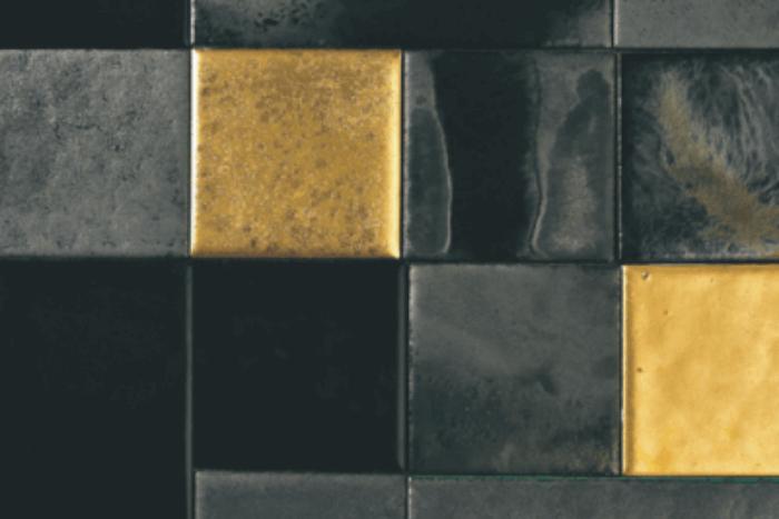 mozaïek tegels zwart goud
