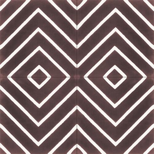 Retro Spaanse tegels bruin wit voor vloer en wand