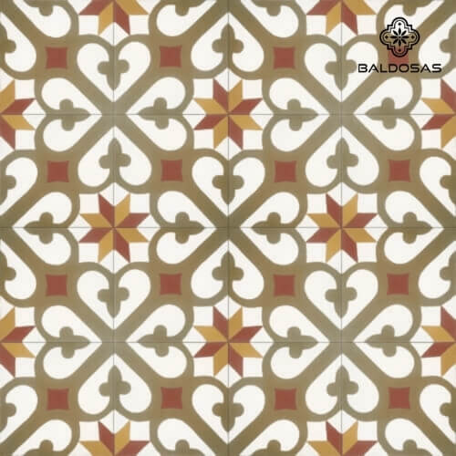 portugese patroon tegels bruin oranje