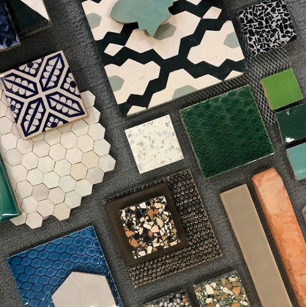 showroom hexagon tegels