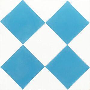 125d blauw wit geblokt vloerpatroon
