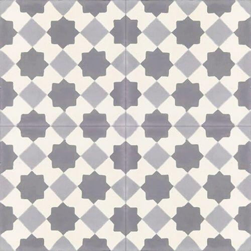 133b cementtegel modern grijs wit