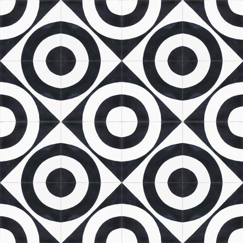 135a Spaanse patroontegel zwart wit