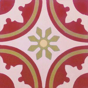 137 Spaanse en Portugese tegels bloempatroon