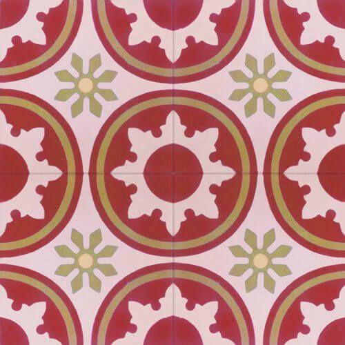137 klassieke patroontegel bloemmotief