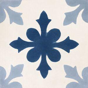 139 Spaanse cementtegel patroon bloem