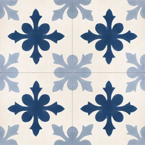 139 Spaanse patroontegel cement bloem