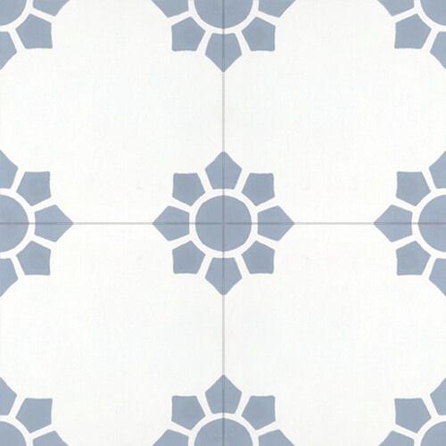 Spaanse cementtegel patroon bloem 144
