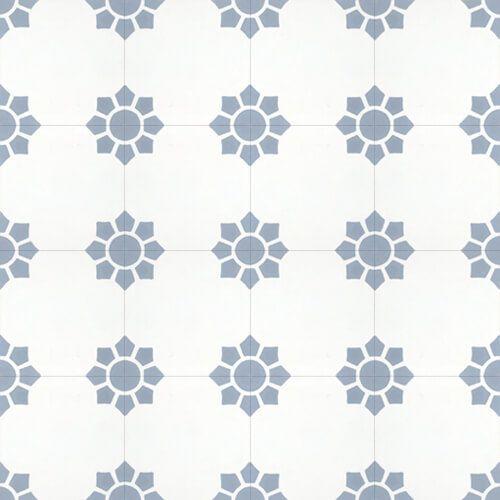 144 Spaanse cementtegel grijs en wit