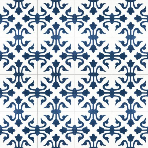154 Spaanse patroontegel blauw wit