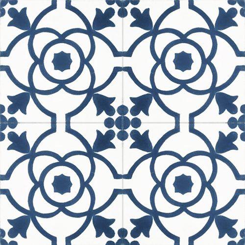 181 Spaanse cementtegel bloem design