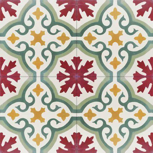 198a Spaanse patroontegel klassiek vijf kleuren