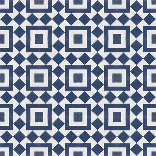 215a patroontegels blauw wit