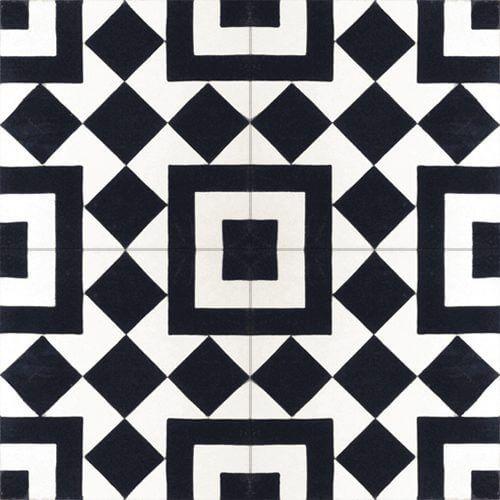 215b motieftegel zwart wit
