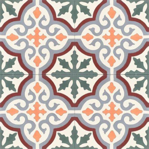 257a kleurrijke vloertegel handgemaakt