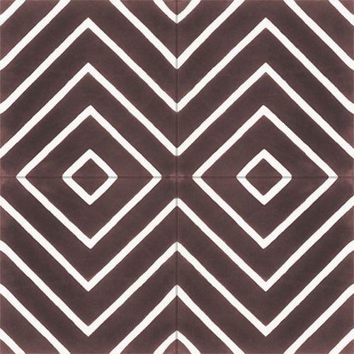 299 Bruine vloertegels retro design