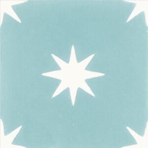 308a Spaanse vloertegels sterren