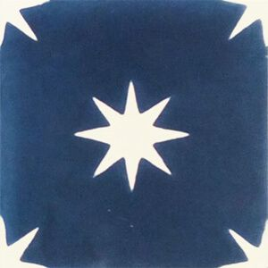 308b Spaanse tegelvloer sterren