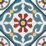 323 Spaanse en Portugese patroontegels bloem groot