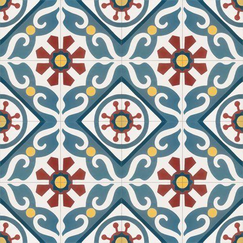 323 Spaanse tegels groot bloempatroon
