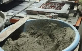 Productie cementtegels