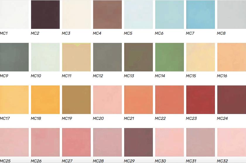kleurenpalet cementtegels