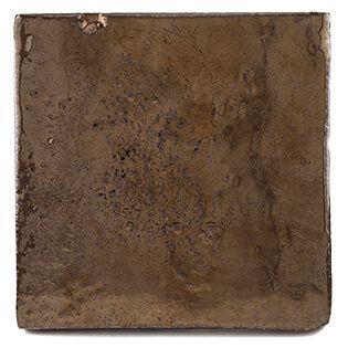 Goud bruin geglazuurde tegels