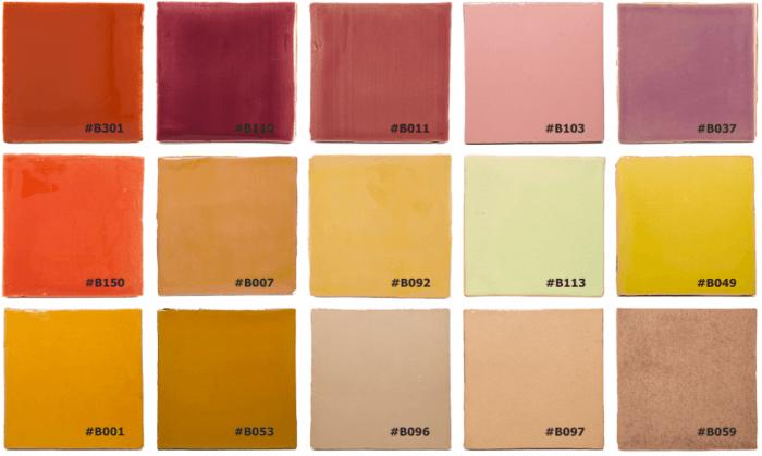 Kleuren Portugese tegels