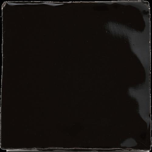Tegels zwart geglazuurd