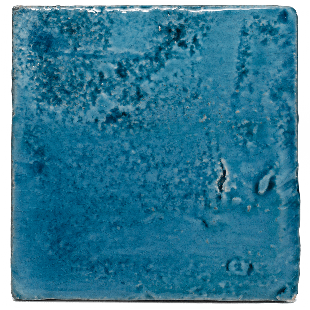 blauwe geglazuurde tegels
