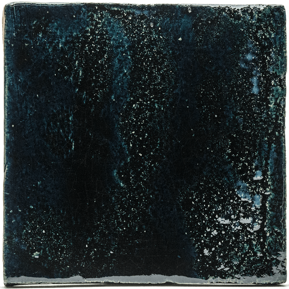 Tegel blauw zwart