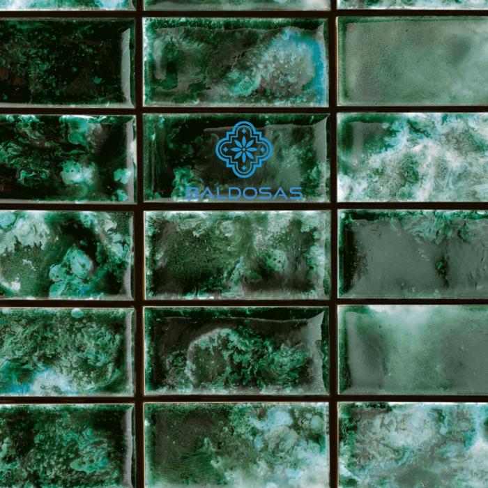 tegels groen glazuur