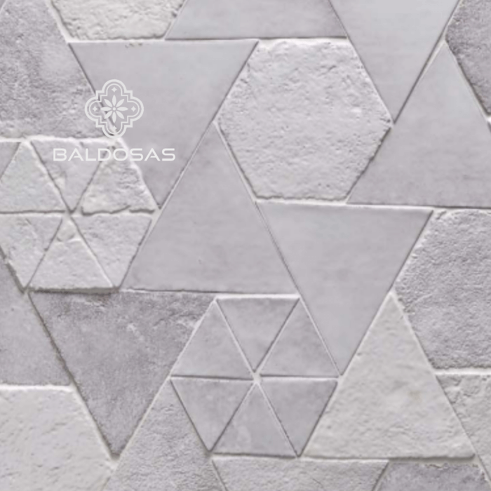 tegels driehoek wit