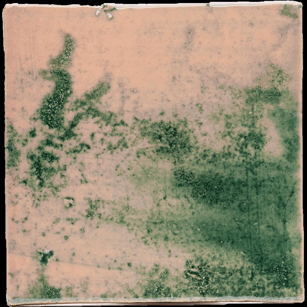 groen rose tegels