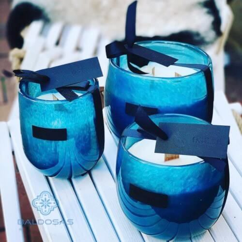 Geurkaars blauw