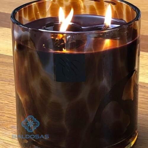 scented candle leopard