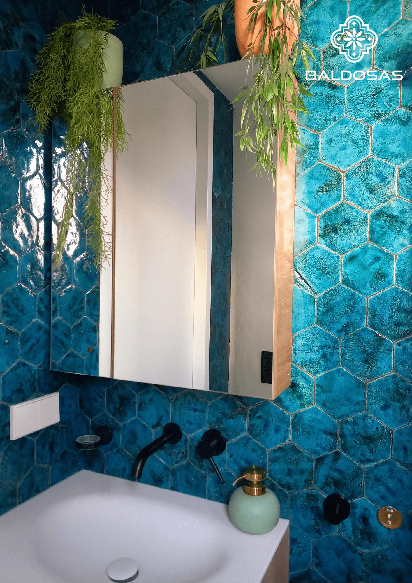 Hexagon tegel Turquoise