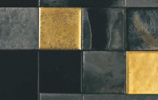 Tegel mix zwart goud
