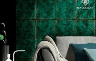 Tegel groen glazuur